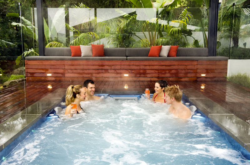 outdoor spa at your home
